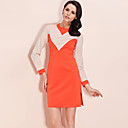 TS 1960s Color Blocking Vintage Dress
