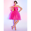 Ball Gown Strapless Knee-length Tulle Cocktail Dress