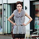 Fashion Fox Fur Collar Sleeveless Party/Evening Rabbit Fur Vest (More Colors)