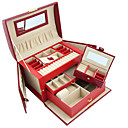 Small Butterfly Alligatoring Leatherette Ladies'Jewelry Box(More Colors)