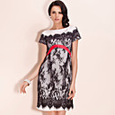 TS Elegant Lace Sheath Dress