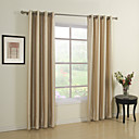 (Two Panels) Stripe Connection Jacqaurd Energy Saving Curtains