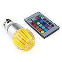 E27 1W 270-300LM RGB Light Crystal LED Ball Bulb (85-265V)