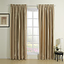 (Two Panels) Classic Stripe Solid Room Darkening Curtains