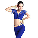 Unique Dancewear Cystal Cotton Belly Dance Top For Ladies More Colors