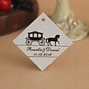 Personalized Rhombus Favor Tag - Black Carriage (Set of 30)