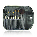 7 Pcs Mini Wood Makeup Brush set