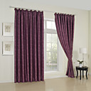 (Two Panels) Modern Embossed Geometric Blackout Curtains