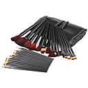 32 Pieces Artificial Fibre Makeup Brushes Set with Leather Case