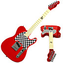 Derulo - Chess Design Telecaster Electric Guitar with Bag/Strap/Picks/Cable/Pitch Pipe