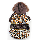 Leopard Print Sherpa Warm Hoodie Coat for Dogs (XS-XL)