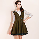 TS Leather Patch Swing Dress