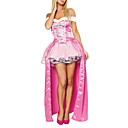 Sexy Volwassen Womens Pink Princess luxe Halloween Costume (2stuks)