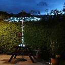 100 blancos al aire libre del LED Luces de Navidad Solar Azul Decoracin Regalos lmpara