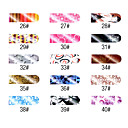 16 stuks Nail Art Classic Full Cover Stickers Manicure