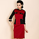 TS Color Block Jersey Dress