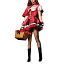 Sexy Volwassen Little Red Riding Hood Dress Halloween Costume (2stuks)
