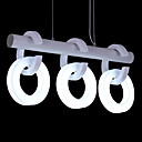 Comtemporary Acrylic Pendant Lights with 3 Lights in White Rings Design