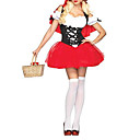 Sexy Adult Little Red Riding Hood Dress Costume di Halloween