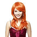 Capless 100% Human Hair Long Straight Auburn Red Wig
