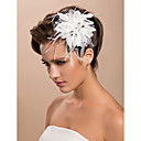 bridal casamento lindo tule flor branca / corpete / headpiece