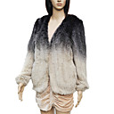 Elegant Long Sleeve Collarless Evening Mink Fur Jacket