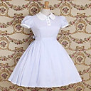 Short Sleeve Knee-length Light Purple Cotton Country Lolita Dress