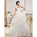 Ball Gown Sweetheart  Court Train Taffeta  Wedding Dress