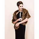 Elegant Long-Haired Faux Fox Fur Party / Evening Shawl / Wrap