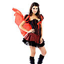 Red mulheres sexy Chapeuzinho Adulto Halloween Costume (4 Pieces)