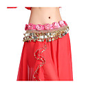 Performance Dancewear 338 Coins Velvet with Flowers Belly Dance Belt For Ladies More Colors