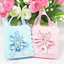 Lovely Favors Bags With Bear And Ribbon - Set of 12 (More Colors)