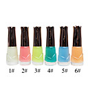 Top Coat luminoso esmalte de uñas (10 ml, 6 botellas)