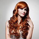 Capless Extra Long High Quality Synthetic Golden Brown Curly Hair Wigs 0988-J45 27-30