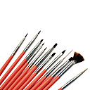 12pcs Acrylic Brush Kolinsky Hair Nail Art Tools Set