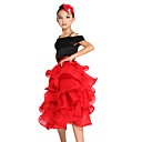 Dancewear Chinffon With Tiers Latin Dance Top And Skirt for Children More Colors