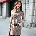 Women's Long High-neck Sweater