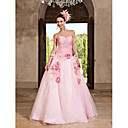Ball Gown Sweetheart Floor-length Organza Taffeta Evening Dress