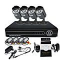 4 Outdoor Dia Noite CCTV Home Video Surveillance Camera Kit de Segurança (4CH D1, IR 10m)