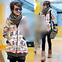 Women's Thicken Hoodie Midi Hoodie Shirt