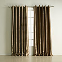 (Two Panels) Classic Embossed Stripe Polyester Blackout Curtains