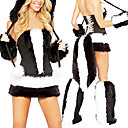 Cute Striped Fur Cat Women Halloween Costume (5 Pieces)
