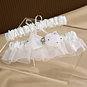 Elegant Satin And Organza With Bowknot Wedding Garters(Set of 2)