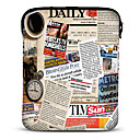 "Newspaper Barbola 10"" Neoprene Tablet Sleeve for Samsung Galaxy P5100/N8000/iPad/Motorola Xoom"