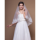 Gorgeous One-tier Elbow Wedding Veils With Lace Applique Edge (More Colors)
