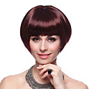 Capless High Quality Synthetic Short Bob Wine Red Hair Wigs