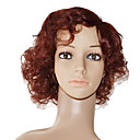 Mono Top 100% Indian Remy Hair Auburn Curly Wig