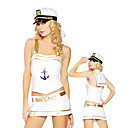 Fancy Golden Purfle White Spandex Naval Uniform(5 Pieces)