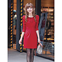 Women's Beaded Lace Knit Dress