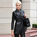 Gorgeous Lambskin Leather Collar Winter/Fashion Coat